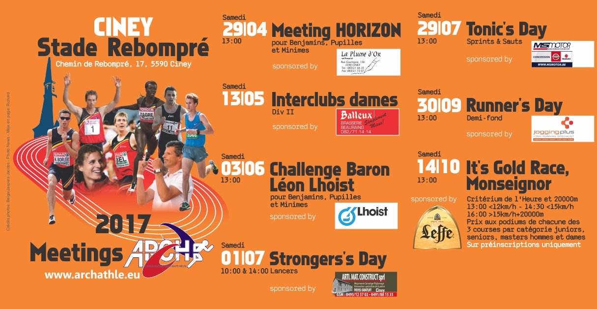 Prochain meeting le TONIC's Day Sprints-Sauts  le 29  juillet